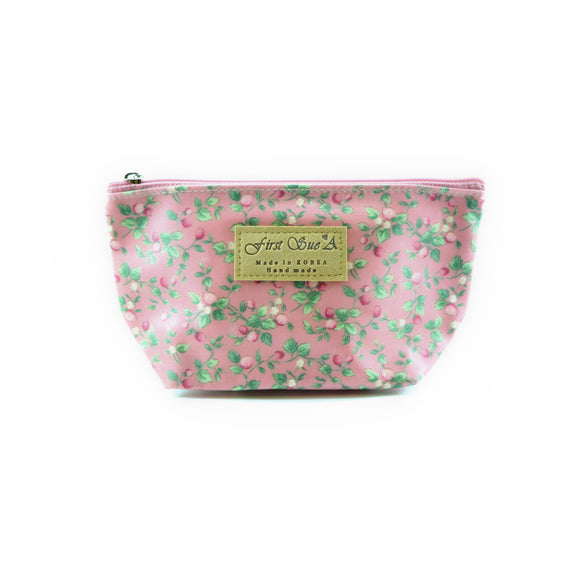 Floral Cosmetic Makeup Bag in Pink