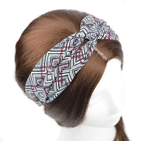 Striped Chiffon Knot Headband
