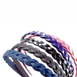 Colourful Plastic Braid Headbands