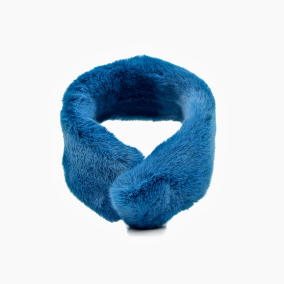 Mink Faux Fur Neck Wrap (Blue)