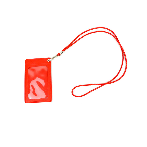 Red Twin Pocket ID and Opal Card Holder with Lanyard Strap
