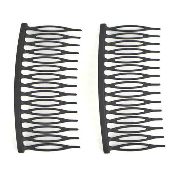 Matte Plastic Hair Comb (Black)(2-Pack)
