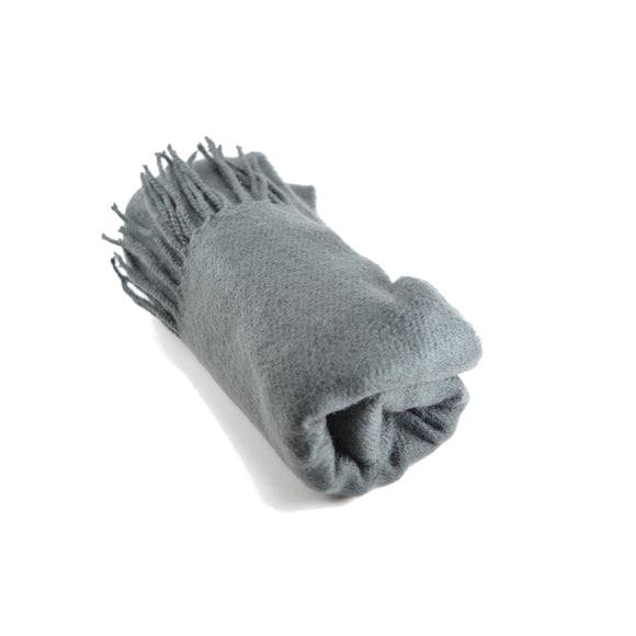 One Acrylic Winter Scarf in Charcoal Grey