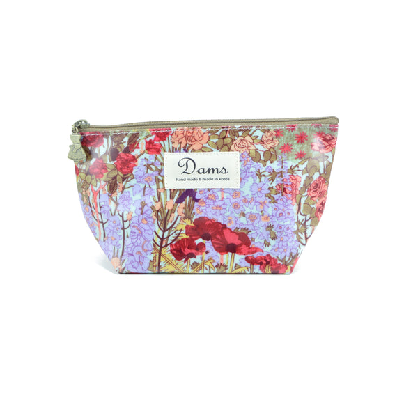 Waterproof Make Up Bag with floral and nature print