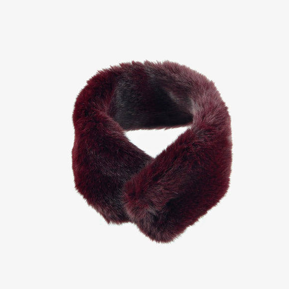 Mink Faux Fur Neck Wrap Styling Scarf (Brown)