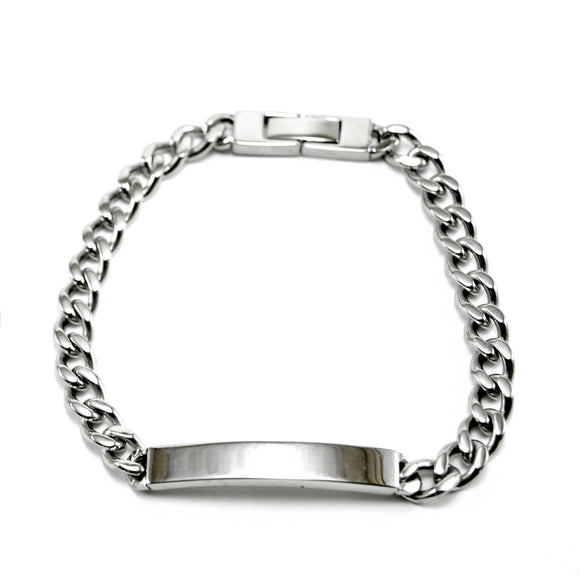 Surgical Steel Dog Chain Bracelet with Bar