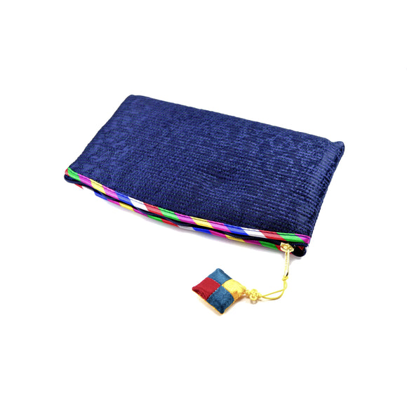 Korean Traditional Makeup Bag (Dark Blue)