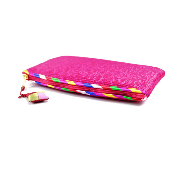 Korean Traditional Makeup Bag (Pink)