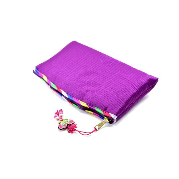 Korean Traditional Makeup Bag (Purple)