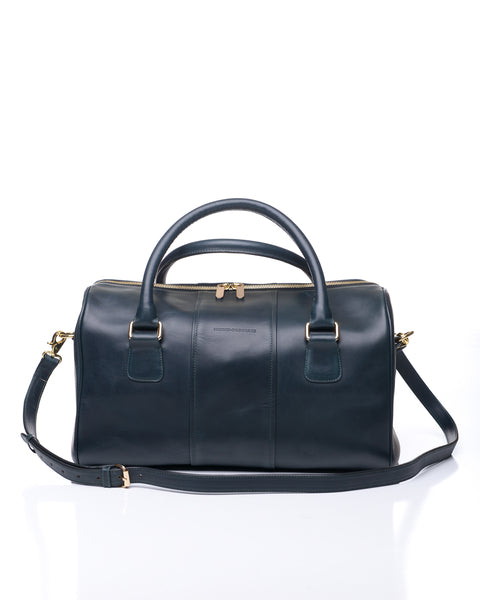 Charlotte duffel - Navy leather