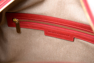 Charlotte duffel - Cerise leather