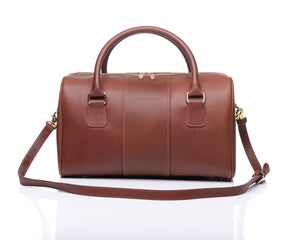 Charlotte duffel - Pecan leather