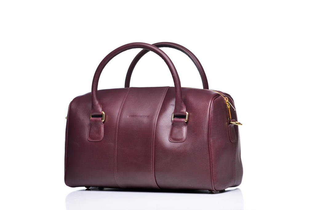 Charlotte duffel - Dark chocolate leather