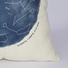Load image into Gallery viewer, Personalised Night Sky Star Map Cushion