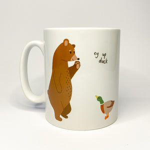 Ey Up Duck Ceramic Mug