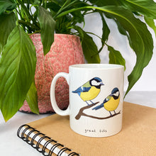 Load image into Gallery viewer, Great Tits Illustration Mug