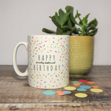 Load image into Gallery viewer, 'Happy Socially Distanced Birthday' Microwave Birthday Cake Mug