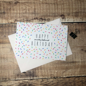 Happy Socially Distanced Birthday Card