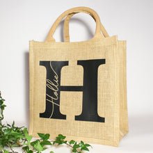 Load image into Gallery viewer, Personalised Initial Name Jute Bag