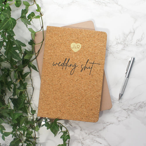 Personalised Wedding Shit Cork Notebook