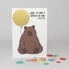 Load image into Gallery viewer, Personalised Bear Scratch off Card