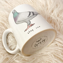 Load image into Gallery viewer, Stay Coo Illustrated Pigeon Ceramic Mug