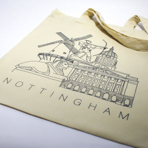 Illustrated Nottingham Landmarks Tote Bag