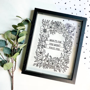 Personalised Floral Papercut
