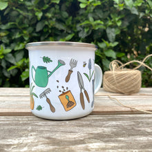 Load image into Gallery viewer, Personalised Head Gardener Enamel Camping Mug