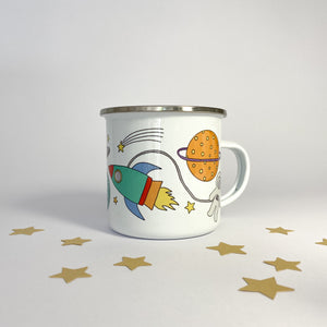 Personalised Enamel Space Mug
