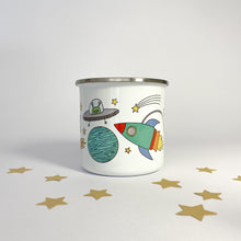 Load image into Gallery viewer, Personalised Enamel Space Mug