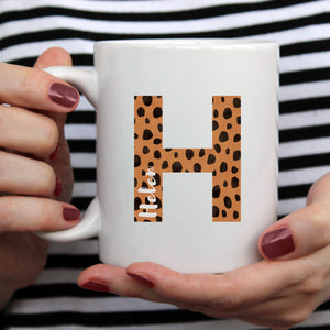 Personalised Cheetah Print Mug