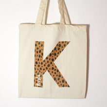 Load image into Gallery viewer, Personalised Cheetah Print Tote Bag