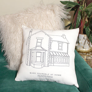 Personalised House Illustration Cushion