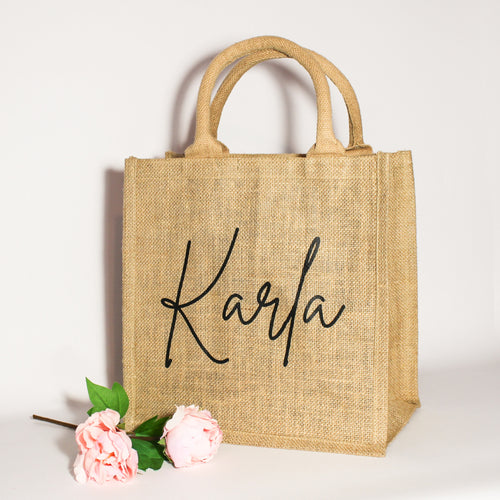 Personalised Name Jute Bag
