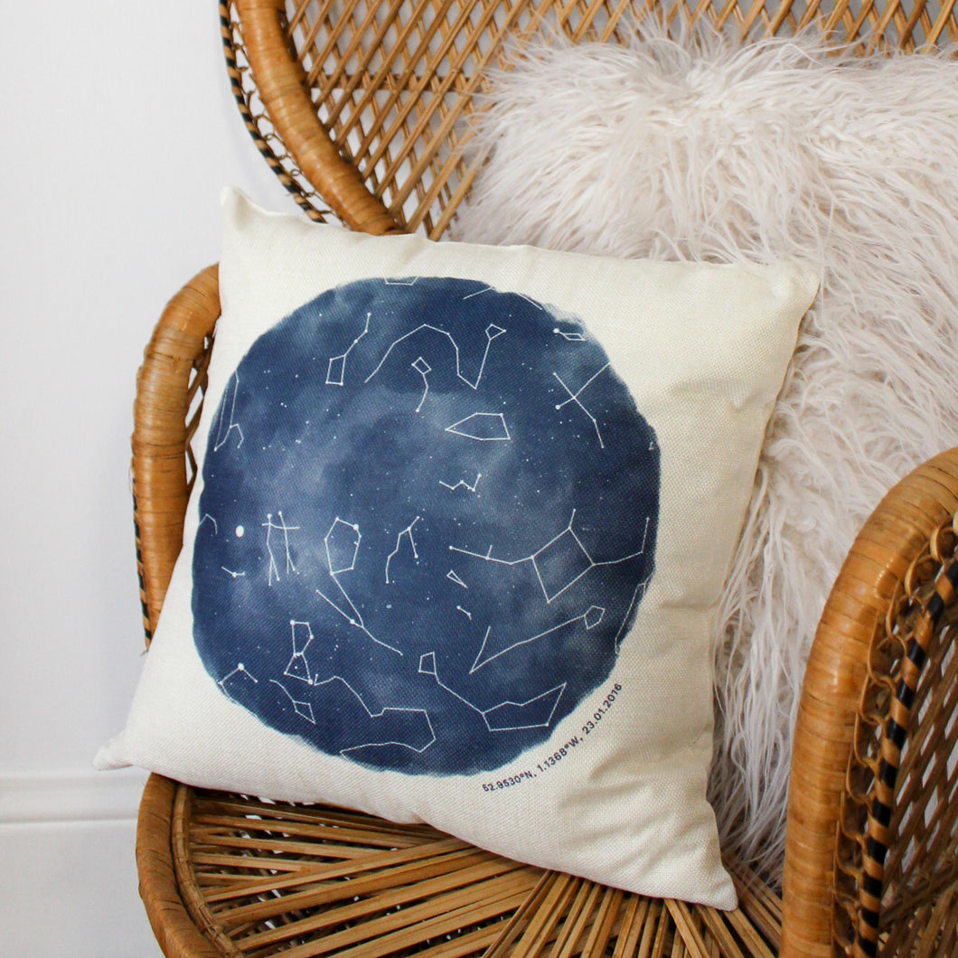 Personalised Night Sky Star Map Cushion
