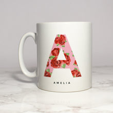 Load image into Gallery viewer, Personalised Rose Print Initial Mug