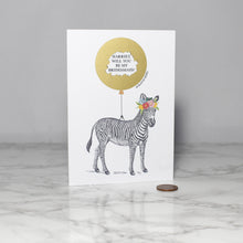 Load image into Gallery viewer, Personalised Zebra Secret Message Card