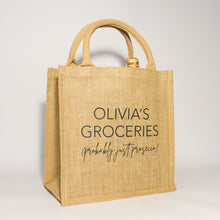 Load image into Gallery viewer, Personalised Probably Just… Jute Bag
