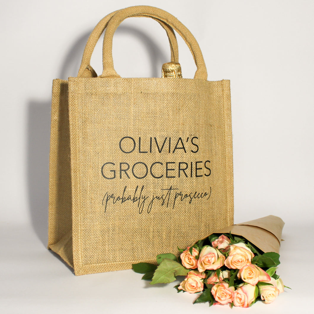 Personalised Probably Just… Jute Bag