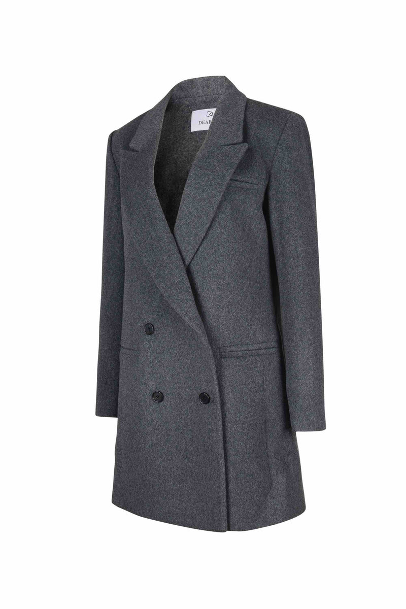 Wool Double Breasted Coat - 20% OFF