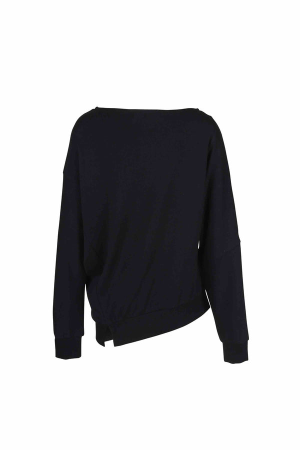 Asymmetric Self Blocked Long Sleeve - 20% OFF