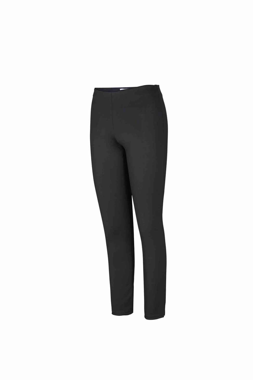 Side view of Women Super Stretchy Leggings in Black