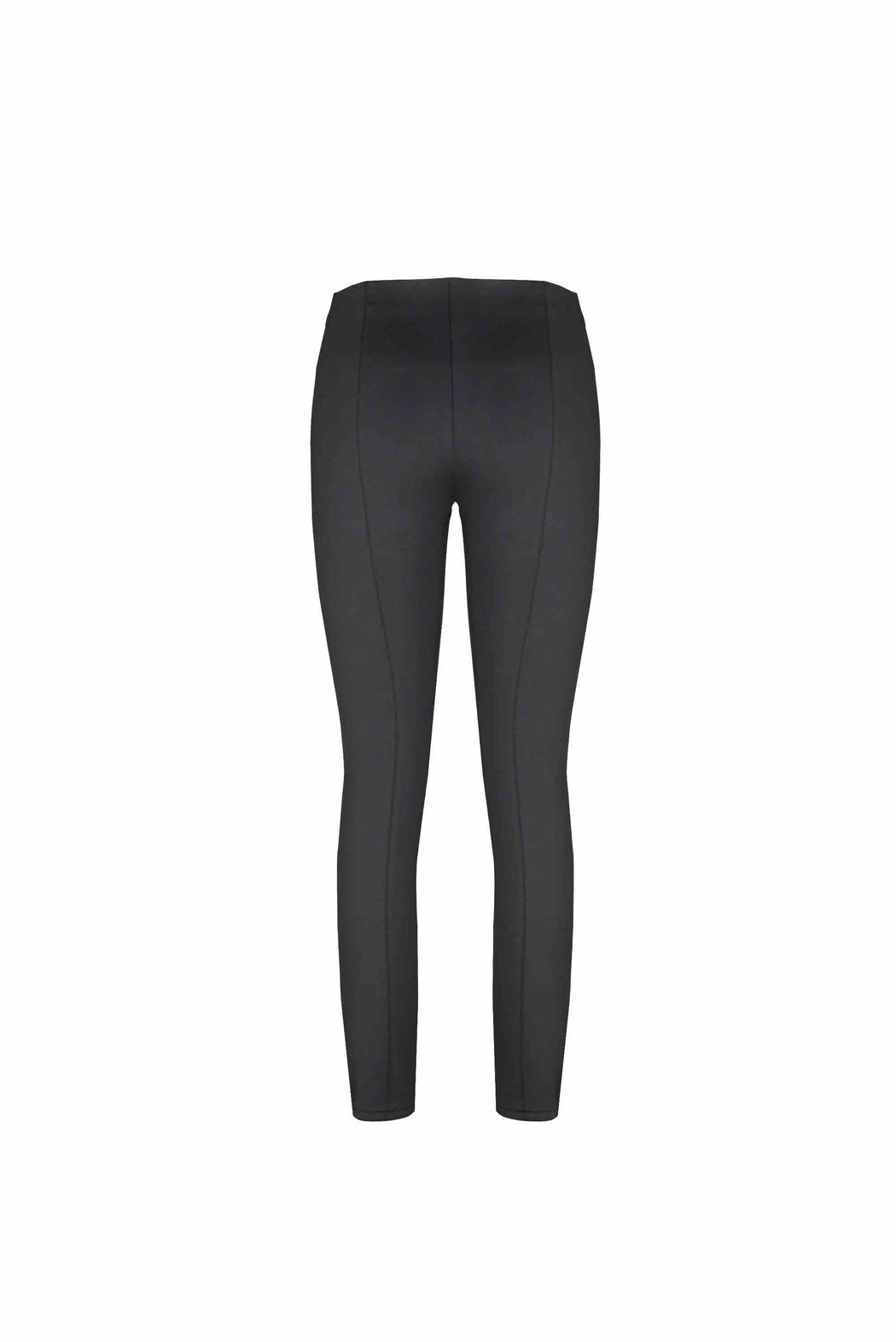 Back view of Women Super Stretchy Leggings in Black