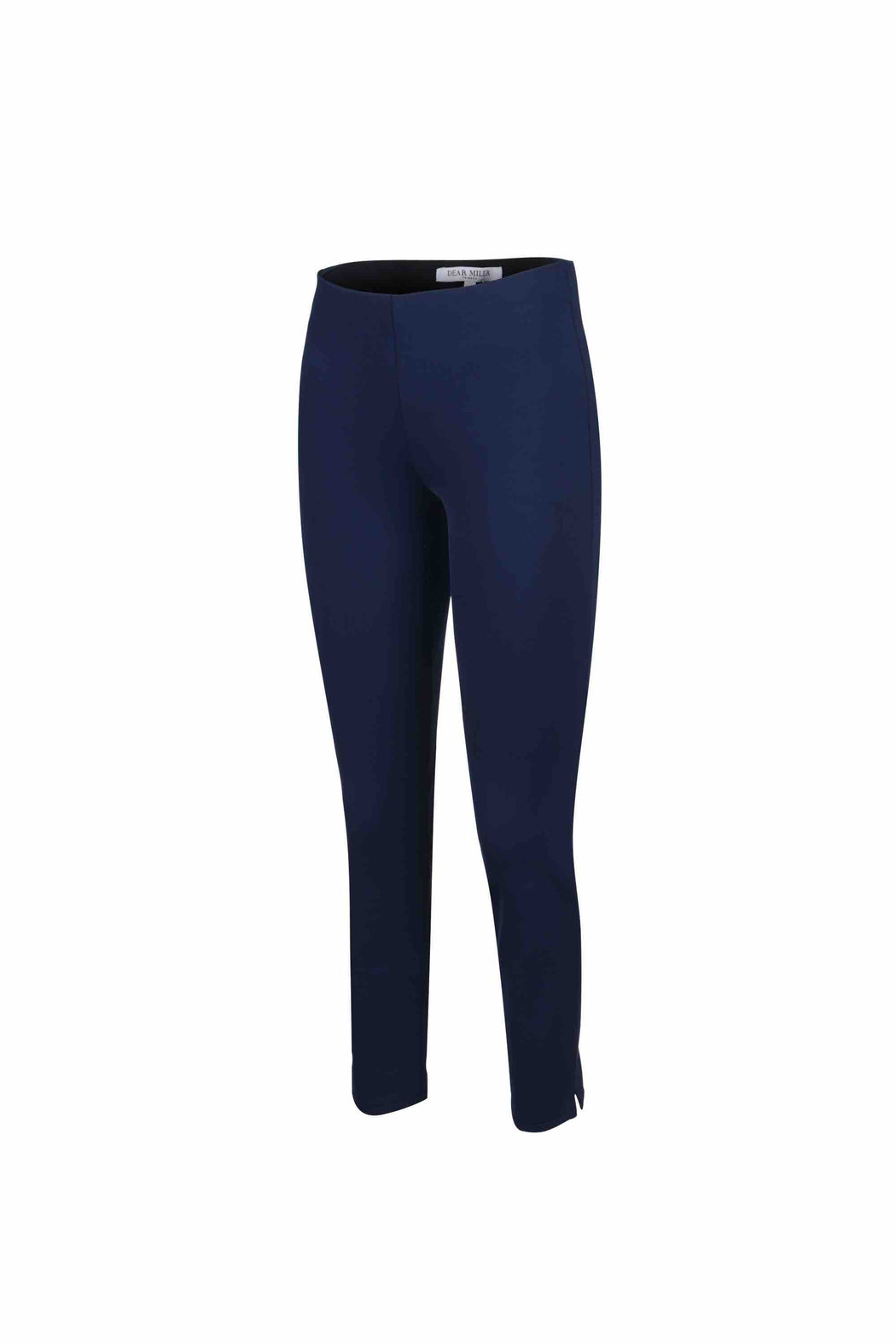 Side view of Women Super Stretchy Leggings in Navy