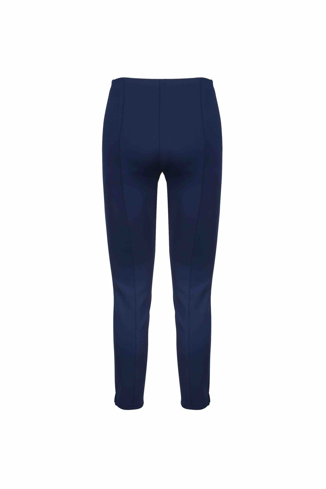 Back view of Women Super Stretchy Leggings in Navy