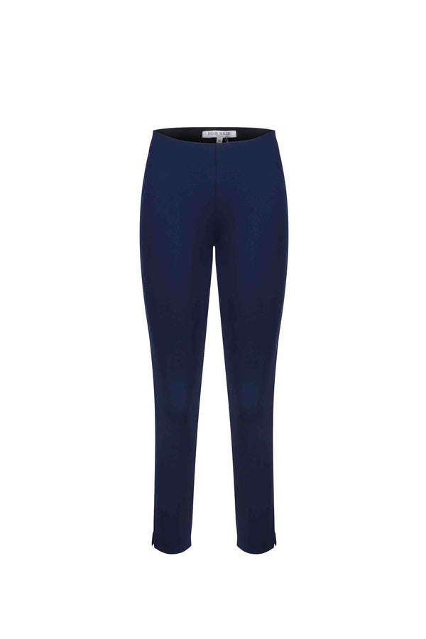 Front view of Women Super Stretchy Leggings in Navy
