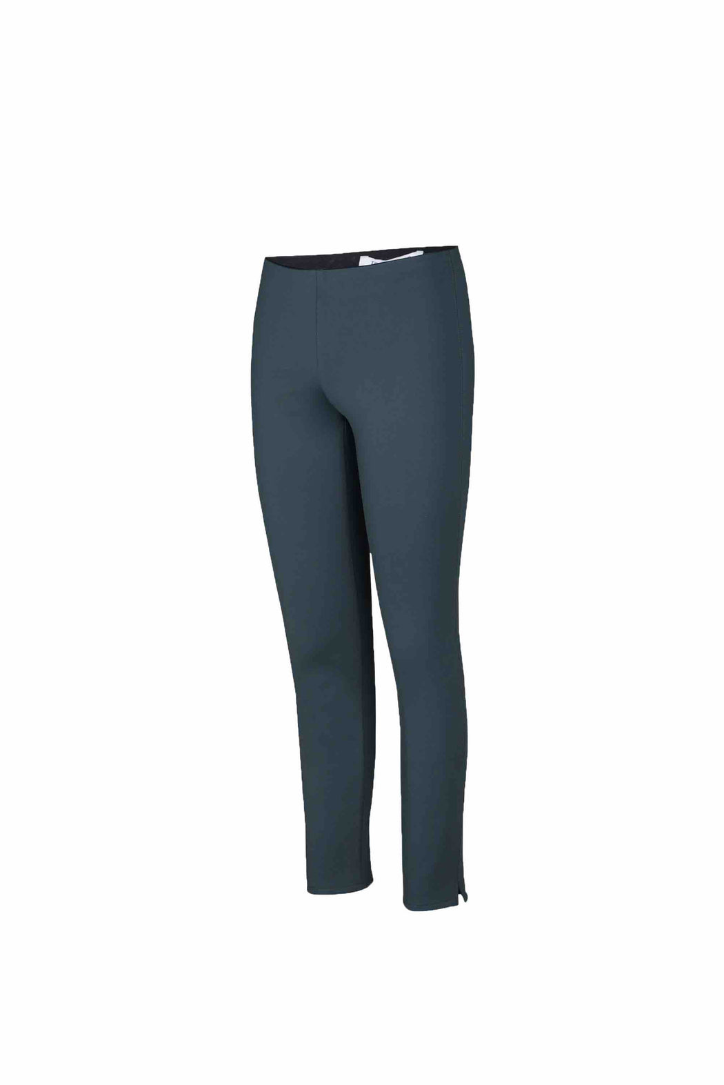 Side view of Women Super Stretchy Leggings in Dark Grey