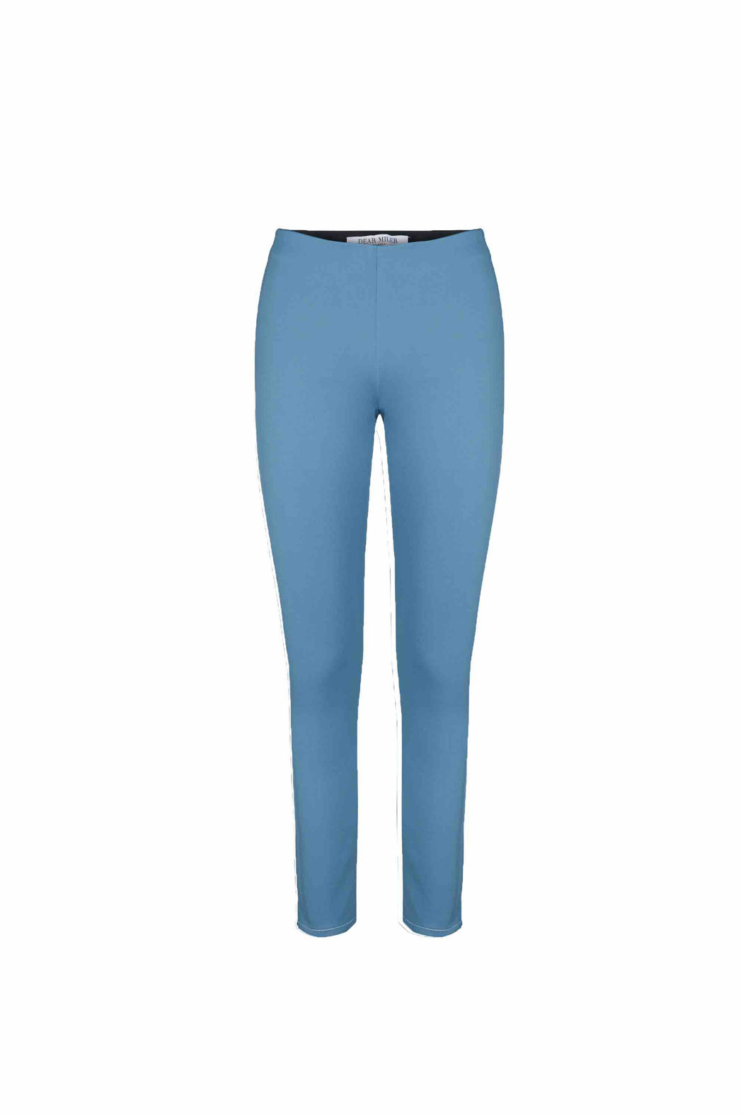 Front view of Women Super Stretchy Leggings in Denim Blue/ Green