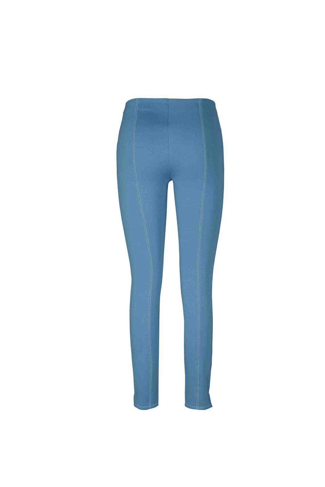 Back view of Women Super Stretchy Leggings in Denim Blue/ Green